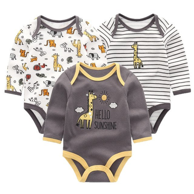 New Cutest 3pcs/lot Baby Romper Short Sleeve Cotton Similar Baby Boy Girl Clothes Baby Wear Jumpsuits Clothing Set Body Suits-eosegal