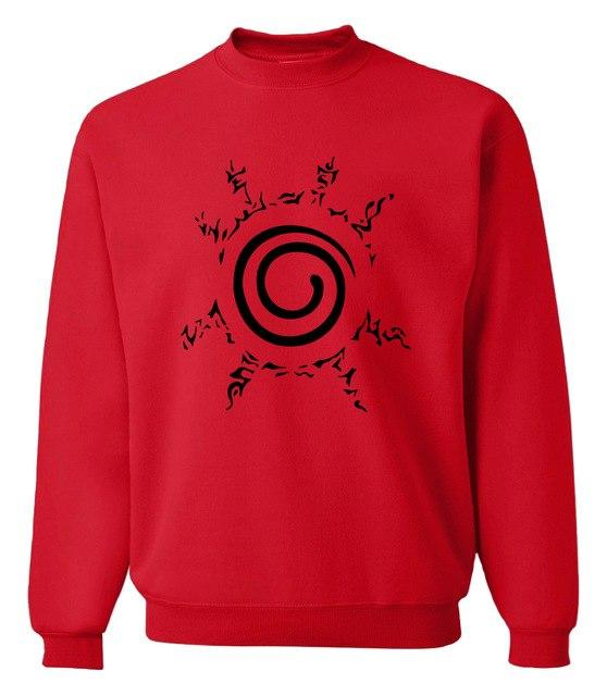 newest long sleeve printed men sweatshirts 2018 fall winter fashion Uzumaki Narutoeosegal-eosegal