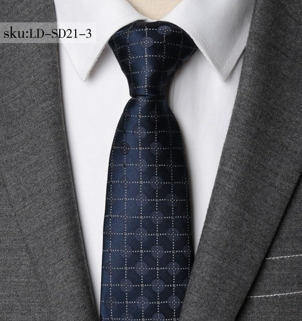 Men Necktie Striped Business 7CM Tie Mens Wedding Parties Dress Jacquard Tieseosegal-eosegal