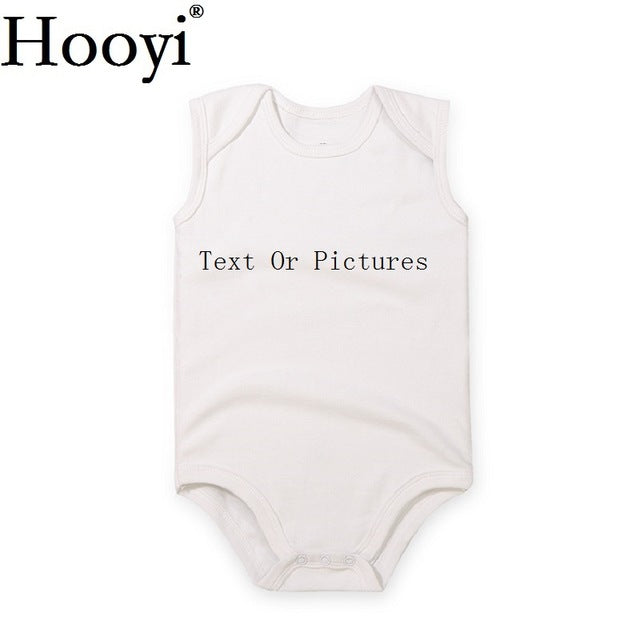 Customized White Baby Boys Bodysuit Unisex Newborn Clothes Print Gift Personal One-Piece Jumpsuit 100% Cotton Baby Clothing-eosegal