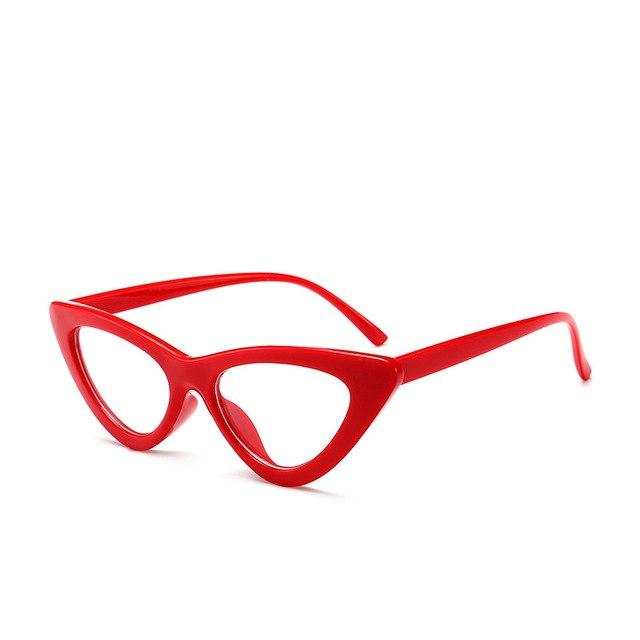 OFIR Sexy red cat eye glasses frames for women 2018 retro Opticaleosegal-eosegal