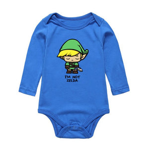 2017 Fashion Cute Newborn Infant Bodysuits The Legend of Zelda Printing Baby Boys Girls Jumpsuits Long Sleeve One-pieces Clothes-eosegal