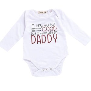 Baby Clothes Toddler Infants Baby Bodysuit Milk Mom Daddy Monster White Short Sleeve Tiny Cottons Baby Girl Boys Baby Onesie-eosegal