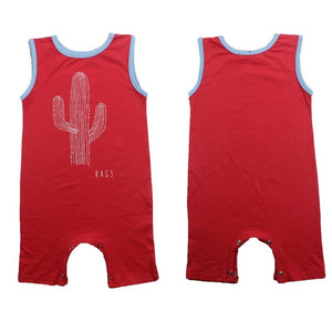Baby Boys Romper Girls Summer Sleeveless Jumpsuit Cactus Letter Printing Infant Newborn Clothes Tiny Cottons Rompers-eosegal
