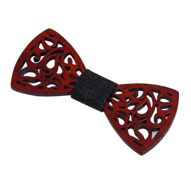 2018 New Design Hollow Carved Retro Party Wooden Bow Ties Handmade Boweosegal-eosegal