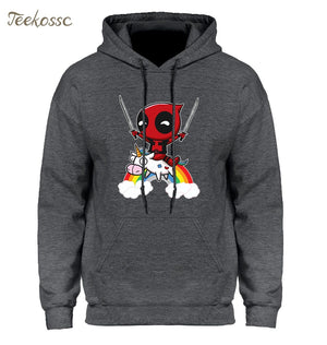 Deadpool Hoodie Men Deal Pool Funny Hoodies Mens 2018 Winter Autumneosegal-eosegal