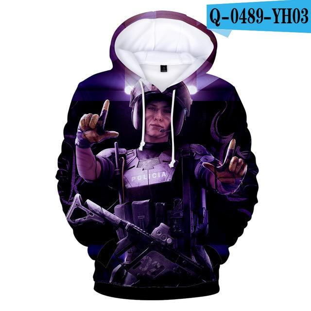 2018 3D Print Rainbow Six Siege hit Hot cotton Hoodie Sweatshirt Electroniceosegal-eosegal