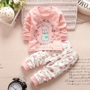 BBYIFU Baby Boys Clothes Set Cotton Newborn Baby Girl Boy Clothing Long Sleeve T Shirt +Pant Suits Autumn Infant Costume Outfit-eosegal