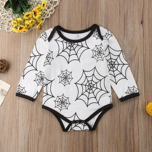 2018 Newborn Kids Baby Girls Boys Long Sleeves Jumpsuit spiderweb Autumn Bodysuit Home cobweb Casual Clothes-eosegal