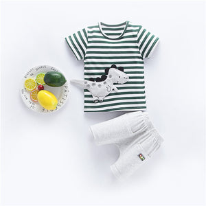 BibiCola summer baby boy clothes infant cartoon clothing set t-shirt+patns outfits bebe sport suit baby cotton tracksuit set-eosegal