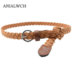 2018 REAL 16COLOR HOT FASHION VINTAGE WOMENS BRAIDED BELT CANDY COLORS HEMP ROPE BRAID FOR FEMALE ELEGANT DRESS MODELING J103-eosegal