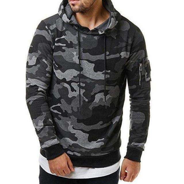 2018 Camouflage Hoodies Men Sweatshirt Hip Hop Male Hoody Zippereosegal-eosegal