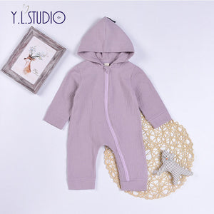 Baby Boy Girl Cotton Romper Long Sleeve with Hood 3D Dinosaur Jumpsuit Warm Spring Autumn Playsuit Clothes Costume Newborn Baby-eosegal