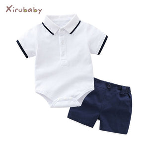 Tem Doger Baby Clothing Sets Newborn Baby Boy Clothes 2PCS Sets Summer Infant Boy T-shirts+Shorts Outfits Sets Bebes Tracksuit-eosegal