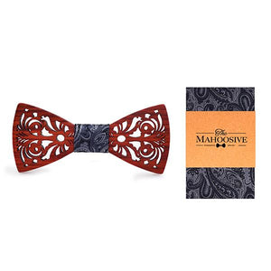 Man Wooden Bow Tie Set for Wedding Suit Wood Bowties Handkerchiefeosegal-eosegal