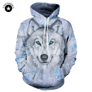 Wolf Sweatshirts Hooded Jackets Men Women Autumn Winter Hoodies 3d Brand Maleeosegal-eosegal