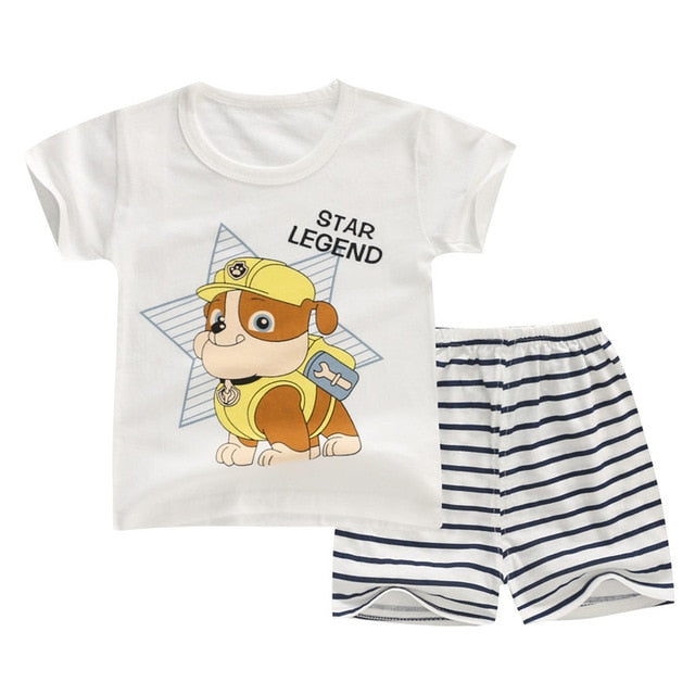 Hot Summer Baby Boy Girl Clothing Sets Newborn Infant Clothes Outfits-eosegal