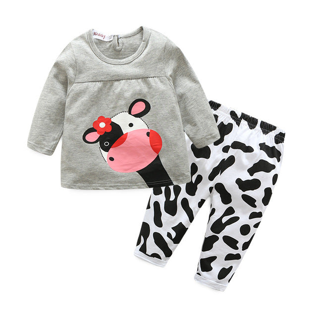 Tem Doger Baby Boys Girls Clothes Sets Autumn Newborn Girls Long Sleeve Hooded Tops+Pants+Hat 3PCS Outfits Set Infant Clothing-eosegal