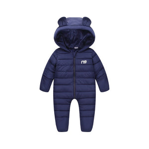 NAET cher Russian winter baby jumpsuit solid warm boys snowsuit for children hooded winter overalls for girls unisex baby romper-eosegal