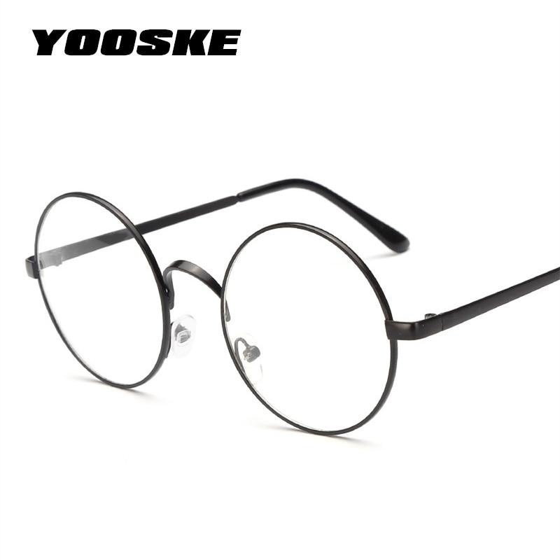 YOOSKE Women Round Glasses Frames Glasses With Clear Lens Men Optical Spectacleeosegal-eosegal