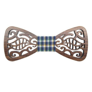 Hollow Wood Fashionable Bow Ties for Men Wedding Suits Woodeneosegal-eosegal