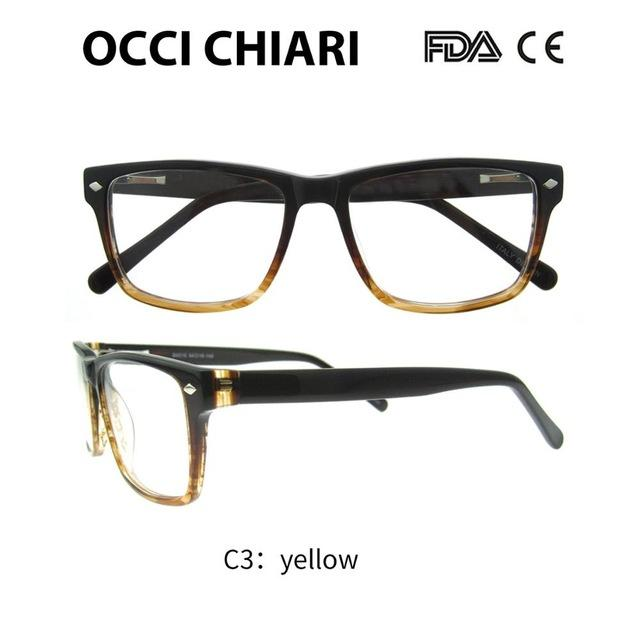 2018 High Quality Glasses Fashion Square Black Male Acetate Eyewear Frame Springeosegal-eosegal