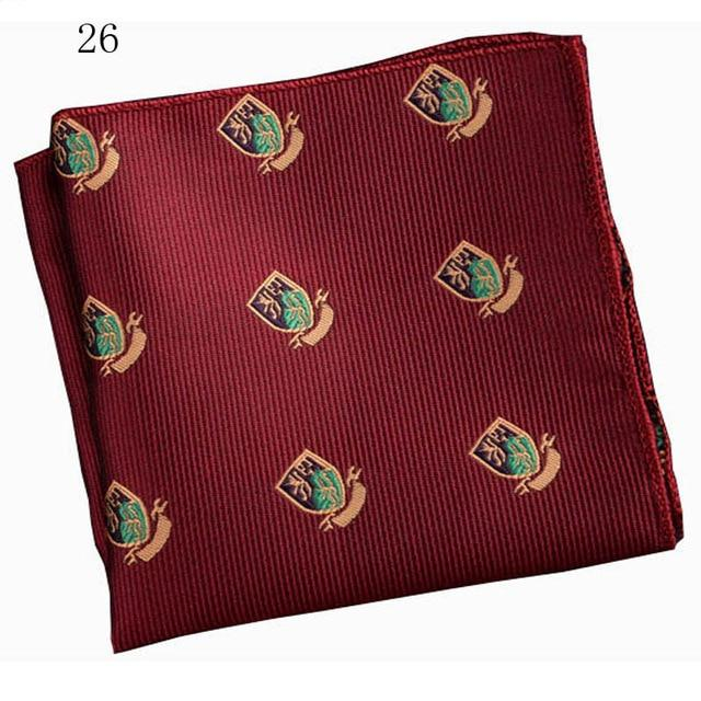 Men Brand Pocket Towel Polyester Handkerchief Scarves Vintage Embroidery Floral Printed Pocketeosegal-eosegal