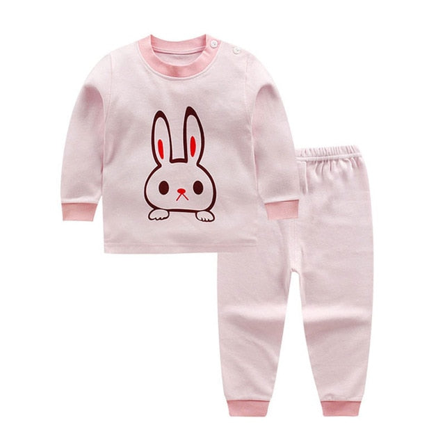 Spring infant baby boys girls clothes sets outfits cotton animal sports suit for newborn baby boys girls clothing pajamas sets-eosegal