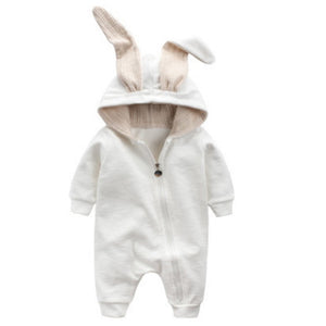 1st Newborn Baby Girls Boys Clothing Romper Cotton Long Sleeve Jumpsuit Playsuit Bunny Outfits One piecer 3D Ear Clothes k1-eosegal