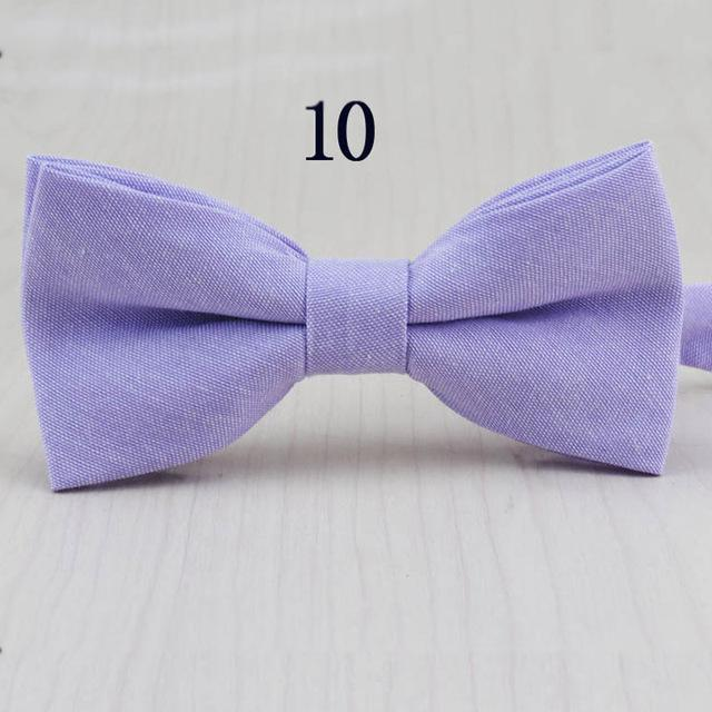 Fashion Mens Bow Tie Oxford Fabric Butterfly Cravat Solid Color Adults Casualeosegal-eosegal