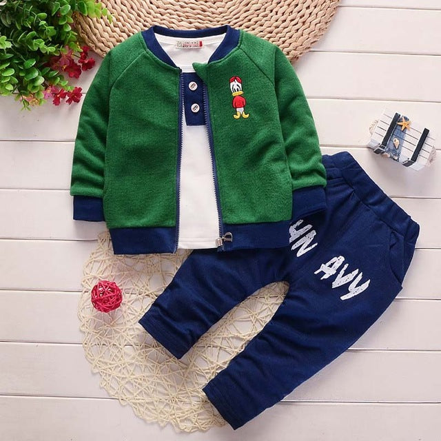 bibicola baby boys clothing sets children baseball sweatshirts warm sport suit kids spring 3pcs sets hot sale boys clothes-eosegal