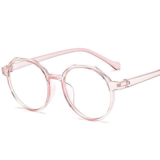 High Quality TR Frame Fashion Glasses Women Eyeglasses frame Vintage Round Cleareosegal-eosegal