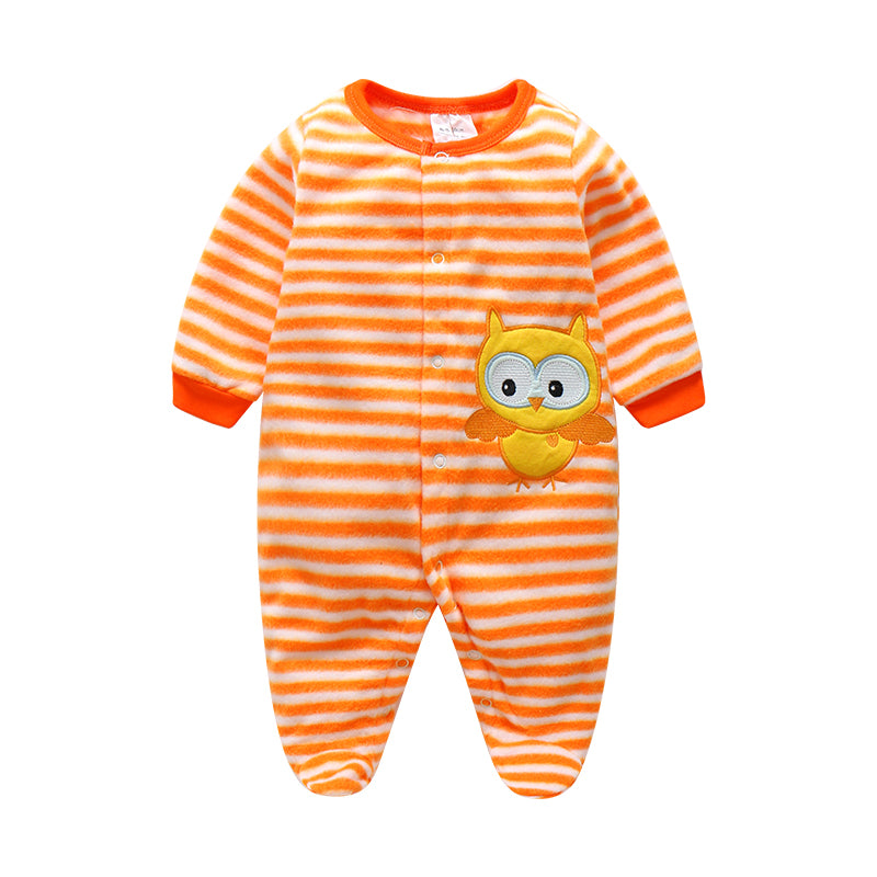 Clearance Sale Baby Boy Rompers Autumn Warm Polar Fleece Clothing Set Cartoon Infant Girl Clothes Newborn Overalls Baby Jumpsuit-eosegal