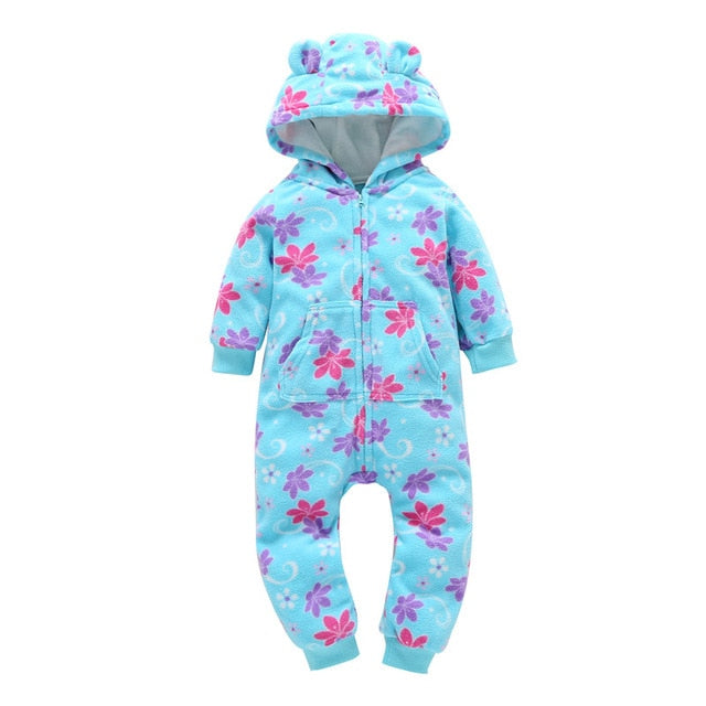 casaco infantil bebes girl snow clothes Winter Rompers hoodies roupa kids clothing one piece Baby Girls boys love pink suits-eosegal