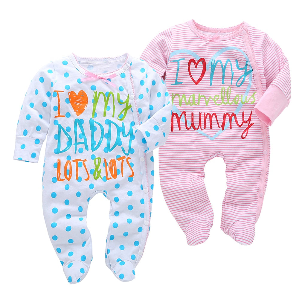 2018 New Arrival Cotton Baby Rompers Girl Boy Baby clothes Pajamas Newborn clothes Jumpsuits Infant clothing outfit Baby Product-eosegal