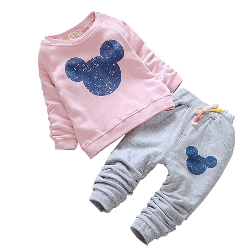 Baby Girl Clothes 2018 Hot sale Baby Clothing Sets Cartoon Printing Sweatshirts and Pants 2Pcs for Baby Long sleeve kids clothes-eosegal