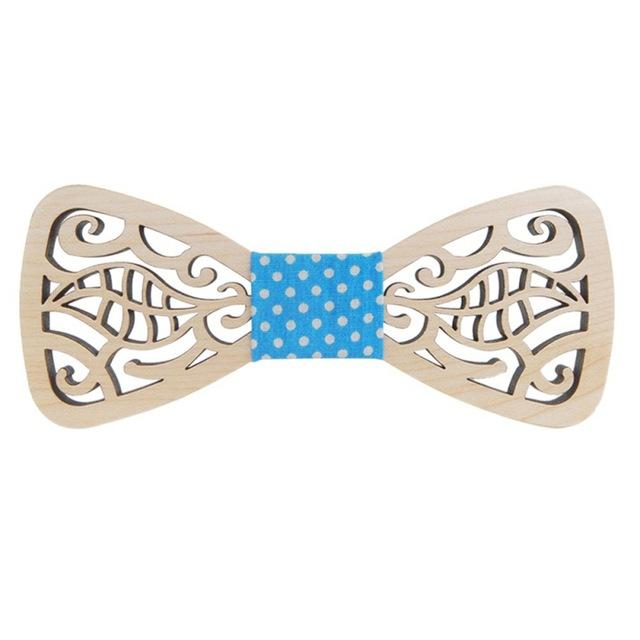 New Style Hollow Wood Bow Ties for Men Wedding Suits Wooden Boweosegal-eosegal