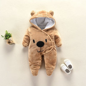 2018 Cute Cartoon Bear Flannel new born Baby clothes Romper Novelty Cotton boy girl Animal Rompers Stitch Baby's Sets Baby-eosegal