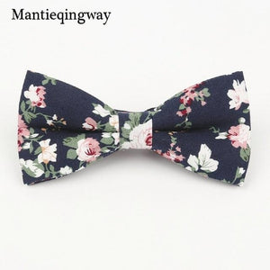 Bow Ties Cotton Floral Print Bowtie for Men Suit Bow Tieeosegal-eosegal