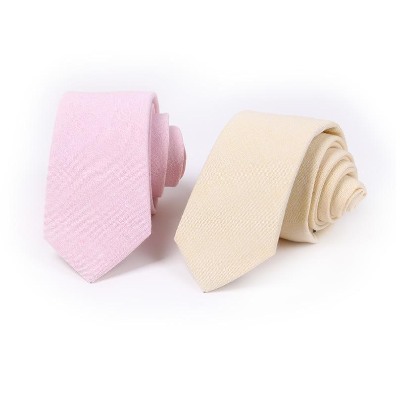 6.5cm Men Slim Tie Casual Cotton Linen Neck Ties Tropical Amorous Studenteosegal-eosegal