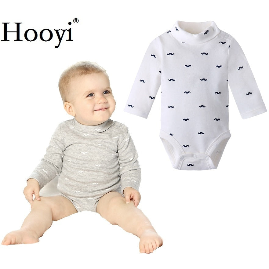 Mustache Baby Boy Bodysuits 100% Cotton Newborn Jumpsuits Babies One-Piece Clothing Turtleneck Infant 0-3 Years Infants Top Soft-eosegal