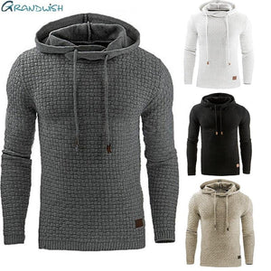 Drop Shipping Hoodies Men Long Sleeve Solid Color Hooded Sweatshirt Maleeosegal-eosegal