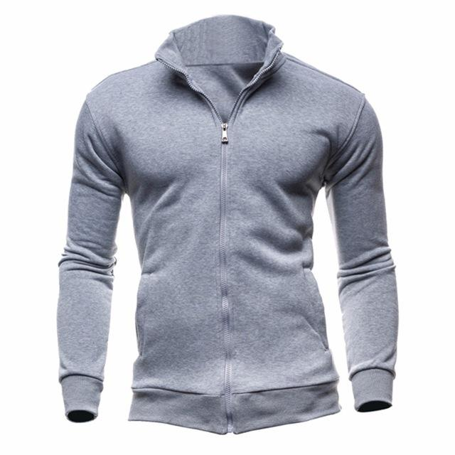 Drop Shipping Fashion Classic Black/Gray Mens Long Sleeve Hoodies Solid Coloreosegal-eosegal