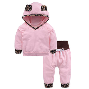 Fashion Striped Clothing Set Girl Installs Long Sleeve Cotton Toddler Baby Girls Guys Clothes Hoodies + Pants 2 pcs. Sets DXT351-eosegal
