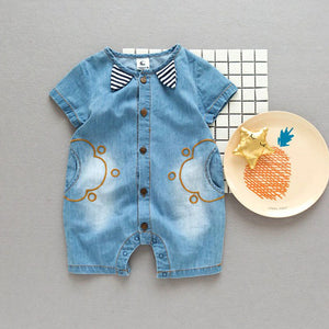 Summer&Arrival Denium Baby Girls Baby Boys Clothes Bebe Fashion Design Lovely Romper Comfortable Baby Clothing 0~24 Months-eosegal