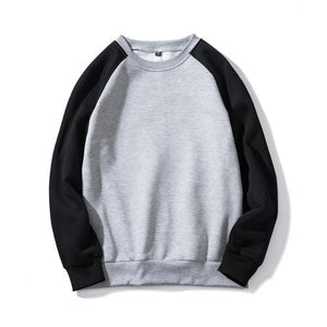 New Autumn Red sweatshirts Hoodies men casual fleece warm Pullover patchwork EUeosegal-eosegal