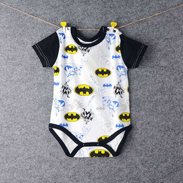 Baby Boy Girl Clothes Short Sleeve Cartoon Hero New Summer Baby Romper Newborn Jumpsuits & Rompers Baby superhero body-eosegal