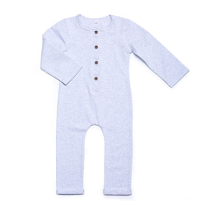 Baby Boys Rompers Newborn Cotton Long Sleeve Plain Black Gray Jumpsuit Toddler Autumn Cotton Jumper Kids Pajamas 2018 40G-eosegal