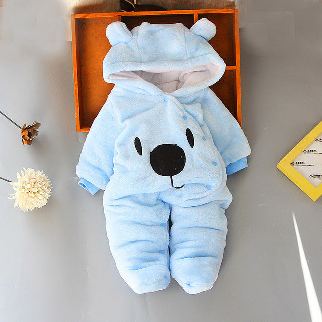 Baby Rompers Winter Baby Boy girls Clothes Cotton Newborn toddler Clothes Infant Jumpsuits new born warm clothing one piece-eosegal