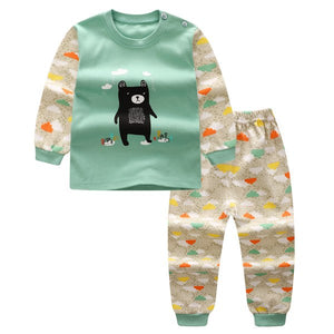 2018 Autumn Baby Girls Clothes Long Sleeve T Shirt + Pants 2pcs Cartoon Cat Casual Suit Newborn Clothes Baby Girl Boys Clothing-eosegal